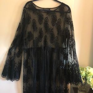 FOREVER 21 Black Lace Dress size 2X